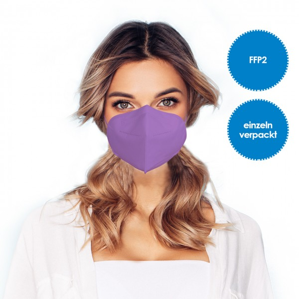 FFP2 Atemschutzmaske 1 Stück *Lila*