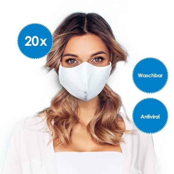 Emmi Mund- und Nasenmaske, Behelfsmaske mit Nanosilber *20er-Pack*