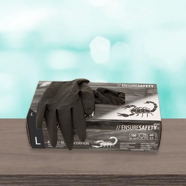 Latexhandschuhe Black Scorpion Schwarz L